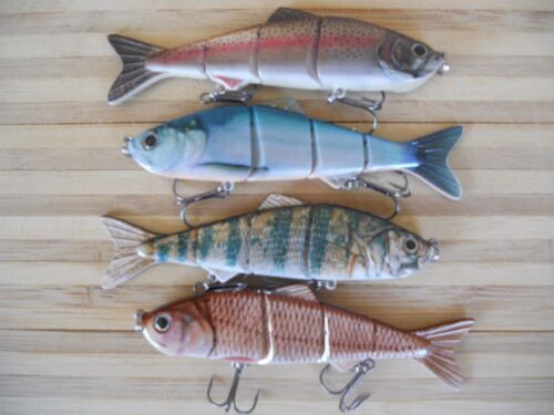 """nice mix of  colored 4.8/"""" swimbaits 4 lot of new"""