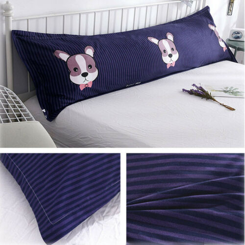 "For Body Pillowcase Long Pillow Cover Bedding Envelope Closure 39//47//59//70/"" SH"