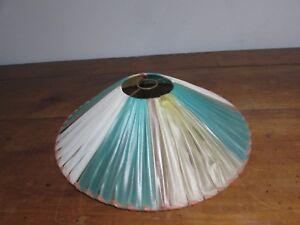 Détails sur ancien abat jour vintage en rubans plastifies