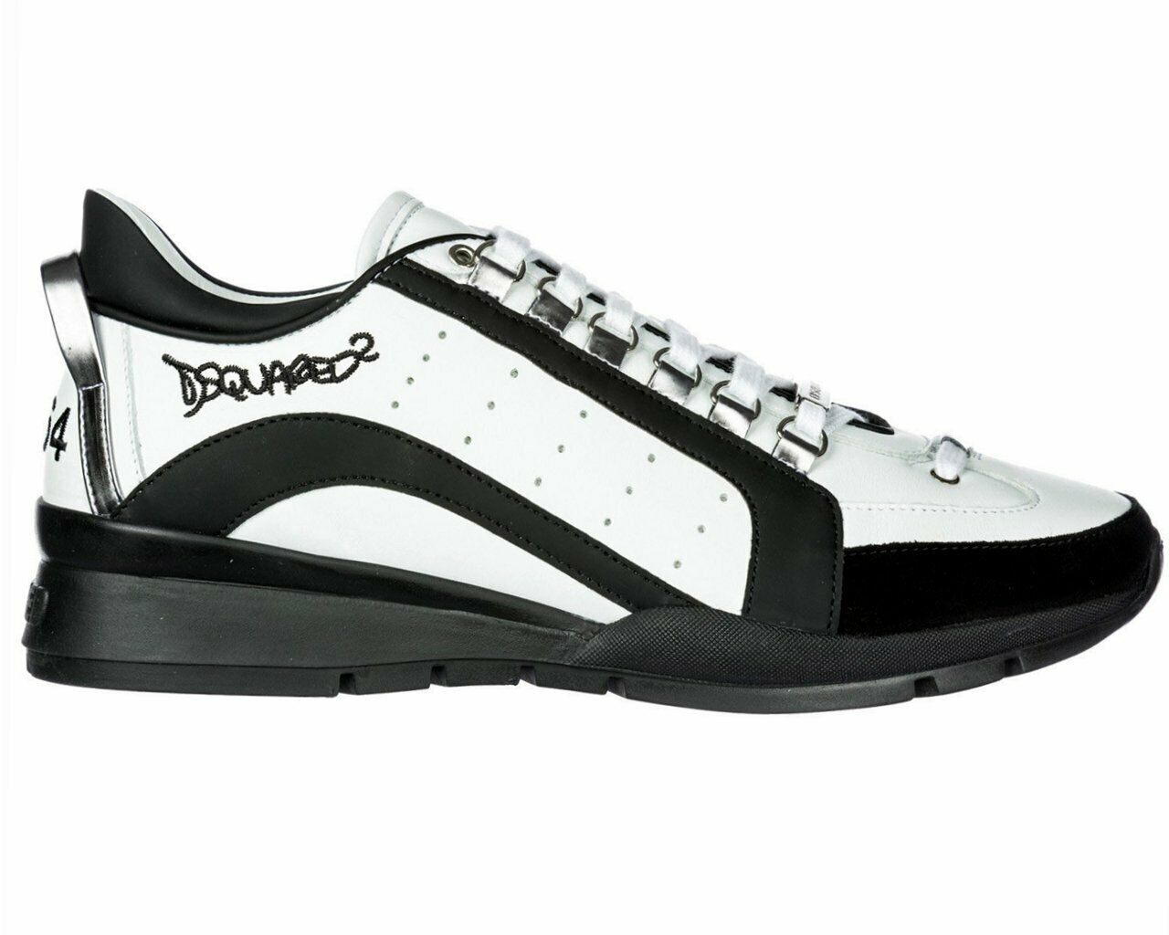 Dsquared2 551 Sneakers Snm0404 M072 Leather Dsquared Trainers White
