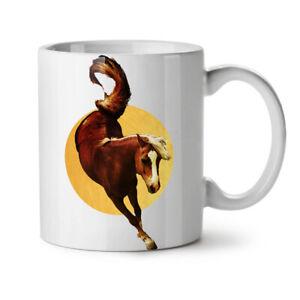Horse Wild Moon Animal NEW White Tea Coffee Mug 11 oz | Wellcoda
