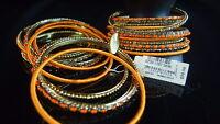 Cara Ny Bangles Orange Crystal Arm Candy Nordstrom Jewelry Gold Tone Boho
