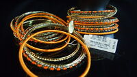 Cara Ny Bangles Orange Crystal Arm Candy Nordstrom Jewelry Gold Tone Boho