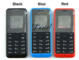 online retailer 925f8 79d97 Details about For Nokia 105 BLACK/RED/BLUE Classic New Full Bezel Housing  Cover Case Keypad