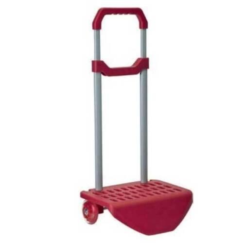 Carrello Trolley Zaino di Colore Rosso Porta Zaini 2 ruote