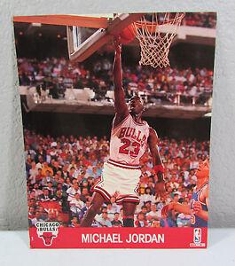 Vintage-1990-MICHAEL-JORDAN-NBA-Hoops-Chicago-Bulls-8X10-Picture-Photo