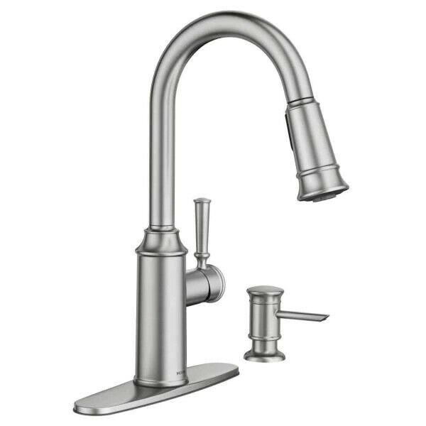 Moen 87731srs Glenshire Pull Down Stainless Sprayer Kitchen Faucet For Sale Online Ebay