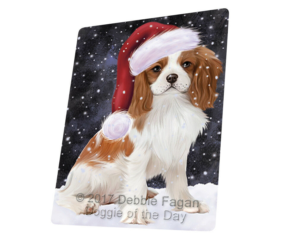 Let it Snow Cavalier King Charles Spaniel Dog Woven Throw Sherpa Blanket T64