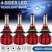 4side 90059006 Led Combo Headlight Kit Cob 120w Light Bulbs High Low Beam Lamp Fits 2002 Mitsubishi Eclipse