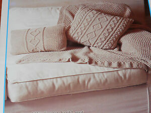 Throw-and-Cushions-knitting-pattern