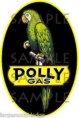 "Polly Gas 15/""x9.5/"" Vinyl Decal DC115"