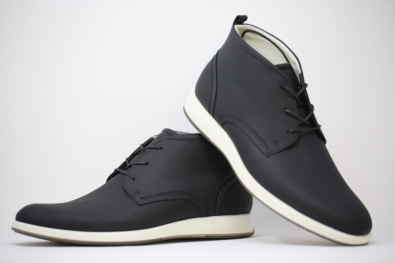 63a498ed31 ECCO en en en Cuir Véritable Chaussures Noires Taille 19b3aa - le ...
