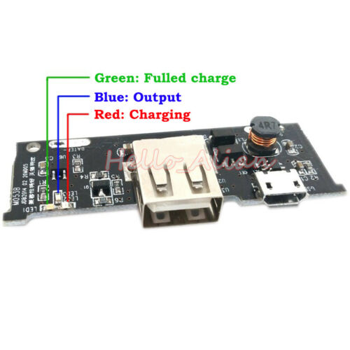 Lithium Li-ion 18650 Battery Charger Module 5V 1A Micro USB 3.7V DIY Power Bank