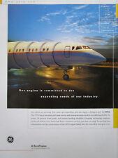 9/2002 PUB GENERAL ELECTRIC AIRCRAFT ENGINES CF34 MOTEUR AVIATION ORIGINAL AD