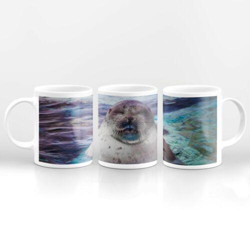 Drinks Mug Cup Kitchen Birthday Office Fun Gift #14503 Funny Sleepy Seal