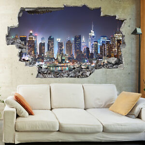 Image Is Loading New York City Night Skyline Art Wall