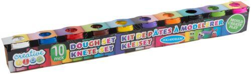 Knete Knetmasse Softknete Modellierknete Basteln 10 Farben 1400g 1,06€//100g
