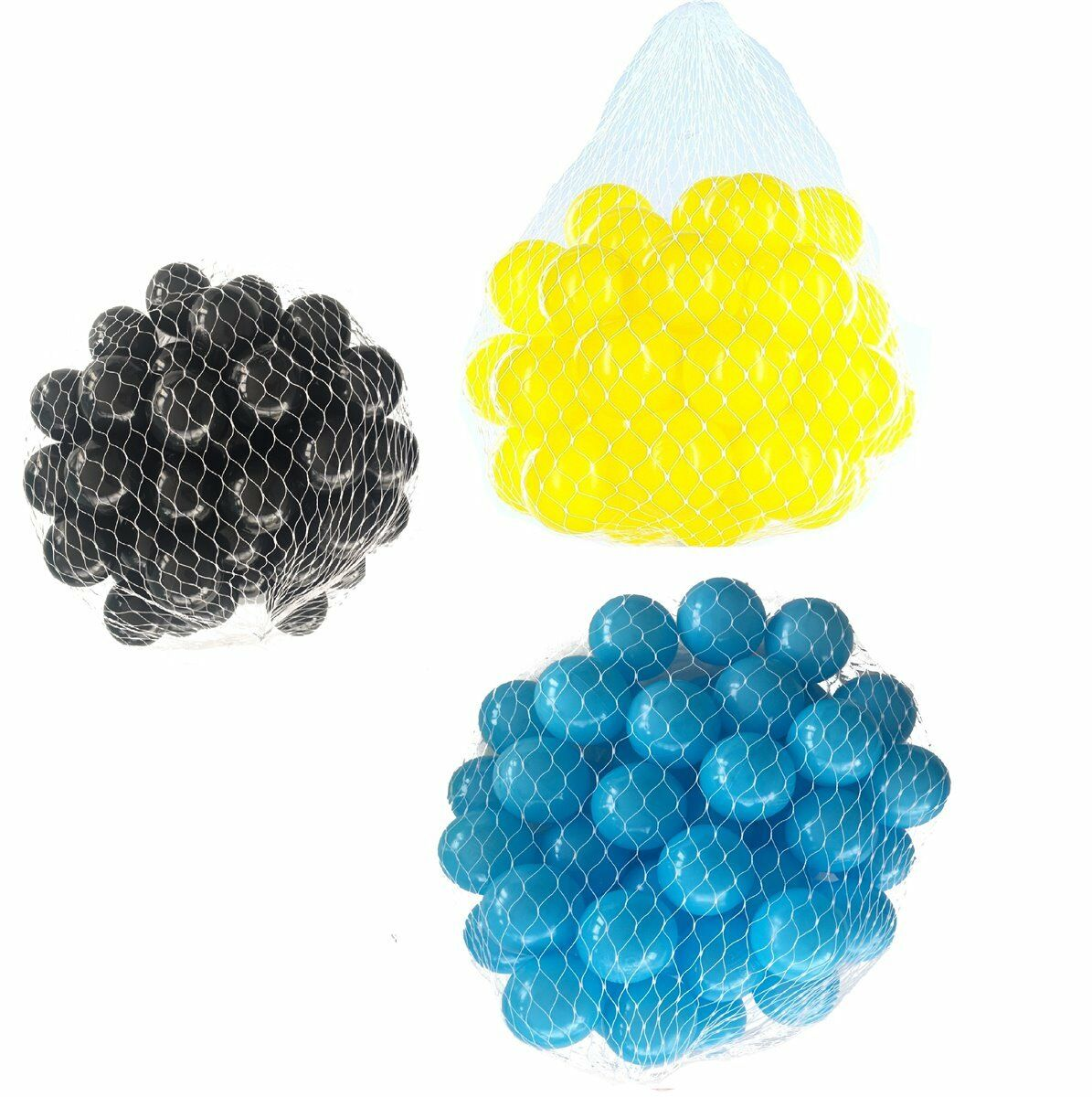 150-9000 Pelotas baño 55mm MIX Turquesa yellow black Mixto colors BABY NIÑO