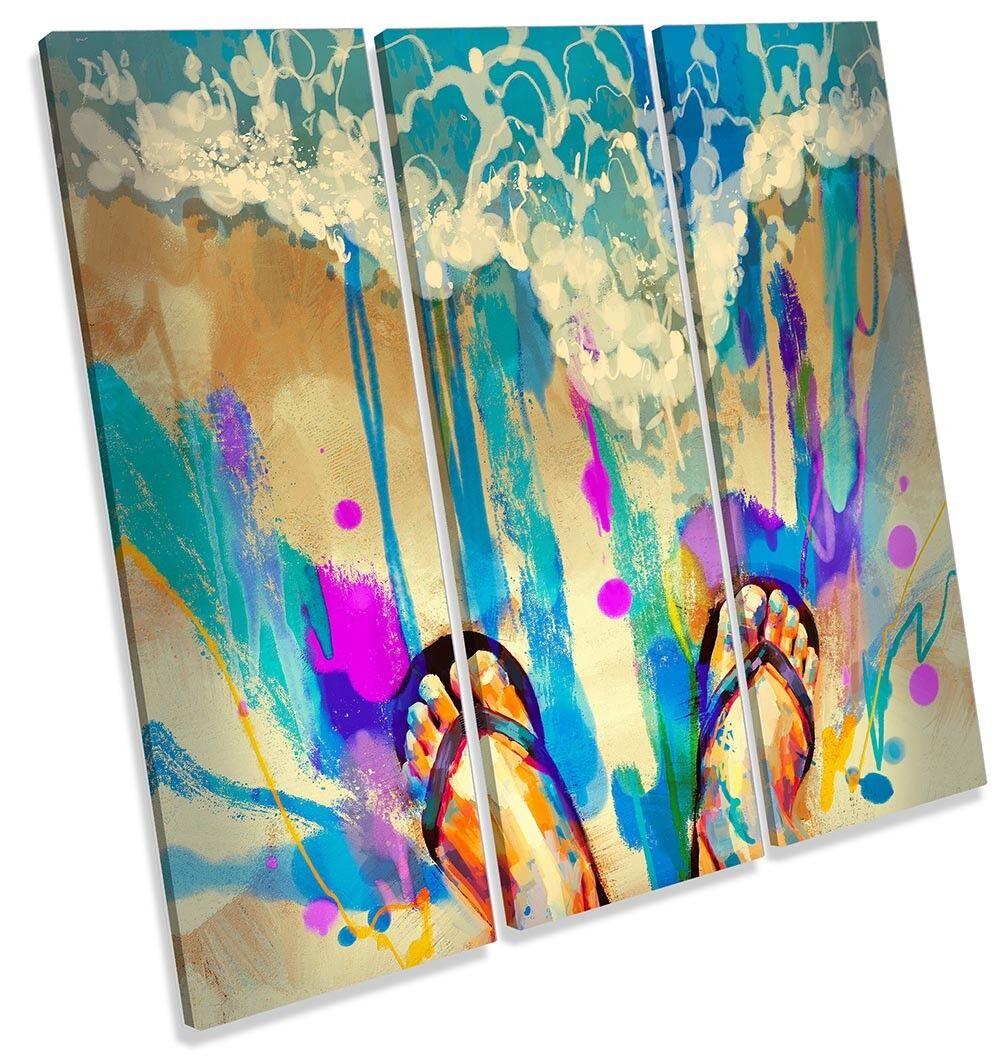 Beach Ojotas de lona pa rojo  obra de arte arte arte agudos Surf Impresión Arte 7929f9