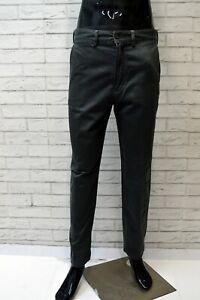 Pantalone-AVIREX-CHINO-Uomo-Taglia-46-Jeans-Pants-Cotone-Gamba-Dritta-Grigio-Zip