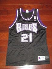VLADE DIVAC Vtg 90's Sacramento Kings CHAMPION Jersey Black lakers hornets Sz 40