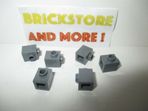 Lego Choose Quantity Brique Brick 1x1 Stud 1 Side 87087 Dark Bluish Gray