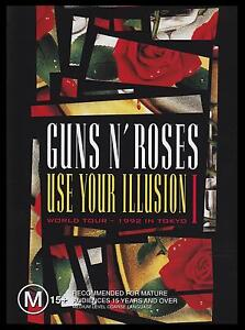 GUNS N' ROSES - USE YOUR ILLUSION I DVD ~ 1992 WORLD TOUR ~ SLASH METAL 1  *NEW*