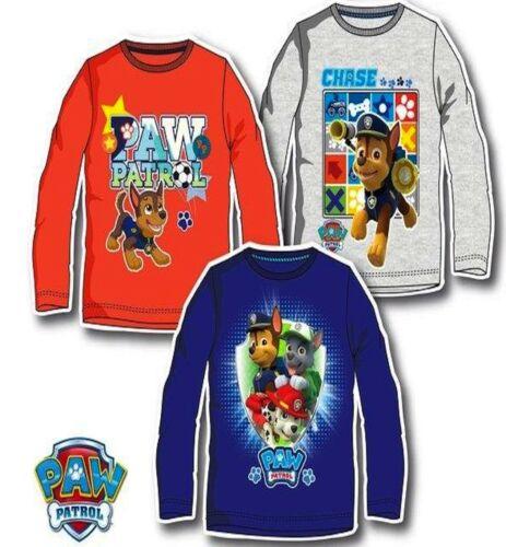 Disney Boys PAW PATROL Characters Cotton Long Sleeves T.Shirt Top 3 4 5 6 YEARS