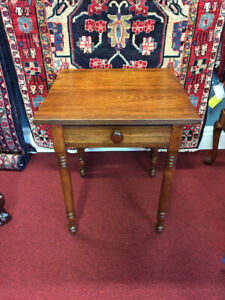 Antique-One-Drawer-Work-Table-Refinished-Shipping-Available