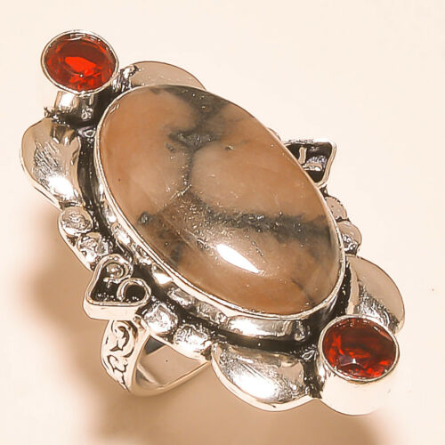 Christmas!!!Free Shipping mix-Stone 925 Silver Gemstone Jewelry Rings