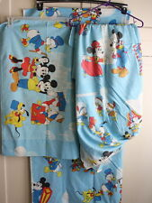 Vintage Walt Disney Frontierland 3 Pc Twin Sheet Set Bedding Mickey Mouse
