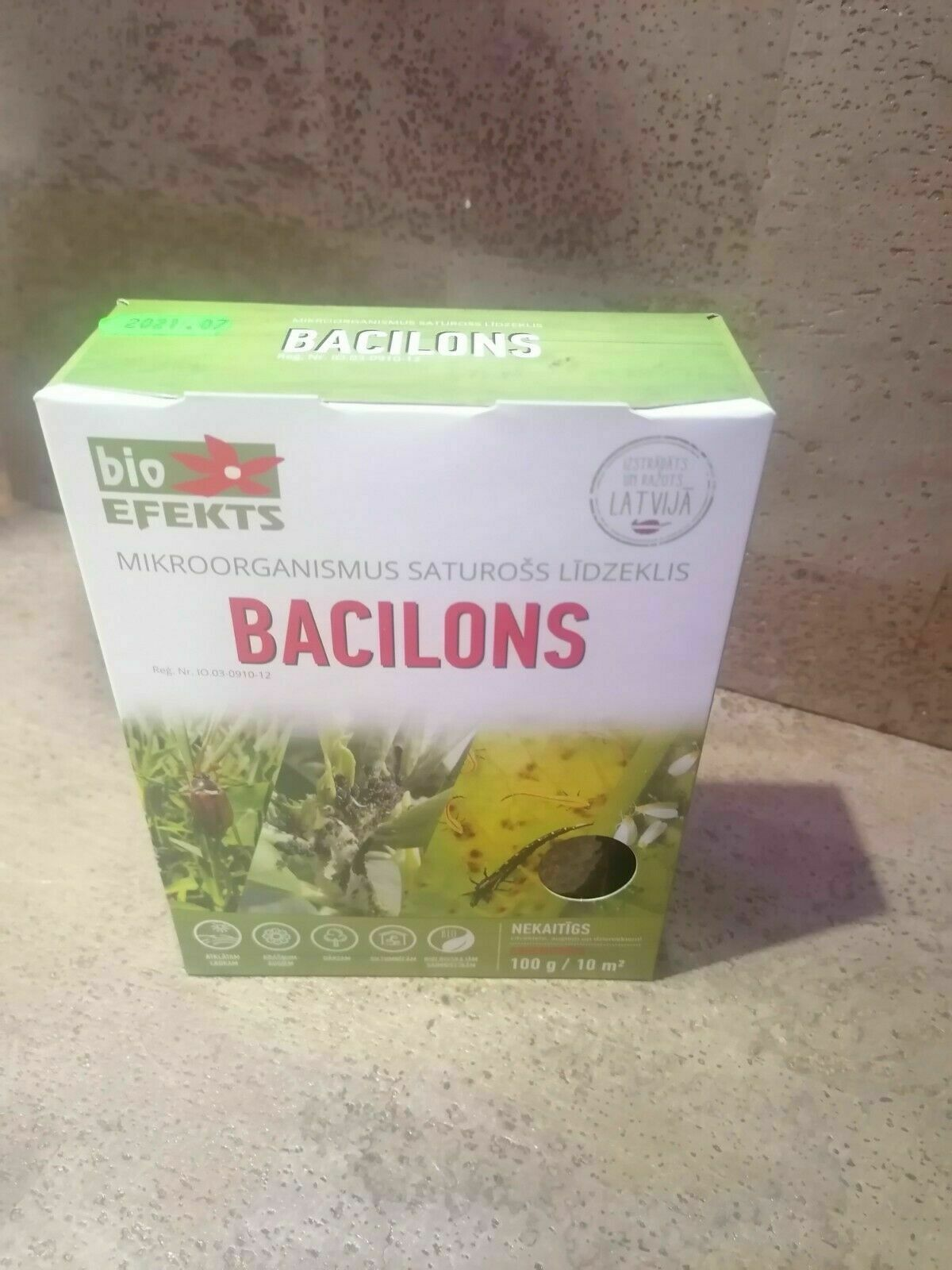 Bacillon Bioinsecticide Bacillus thuringiensis 100g ready to use mix.