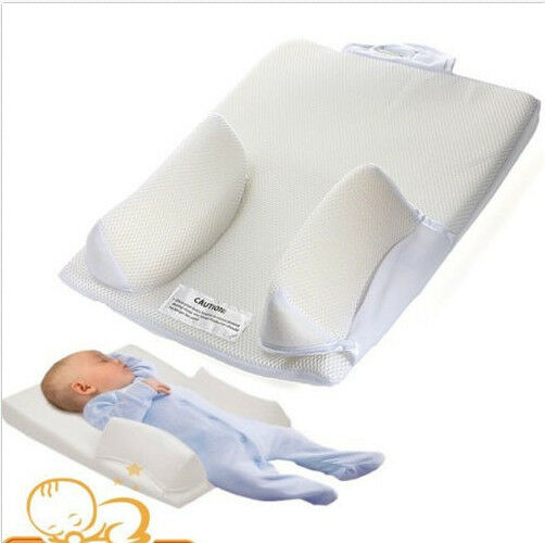 Baby Infant Pillow Sleep Positioner System Prevent Flat Head Ultimate Vent J