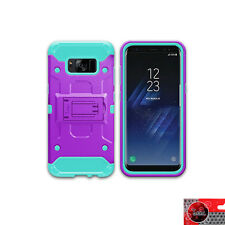 For Samsung Galaxy J7 Prime/ J7 2017 Rugged Armor Hybrid Kickstand Cover Case