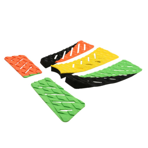 5Piece Pro Surfboard Skimboard Tail Pad Traction Deck Grip Multicolored