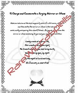 Charge-amp-Consecrate-Scrying-Mirror-Wicca-Book-of-Shadows-Pagan-Occult-Spell
