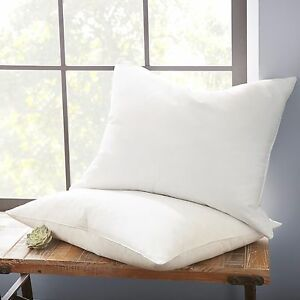 Luxurious Ultra Soft 100 Down Feather Pillow 2 Pack Hotel Quality