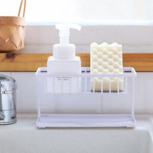 Details about 1X Double Layer Sponge Holder Kitchen Sink Sponge Drain Shelf  Bathroom Organizer