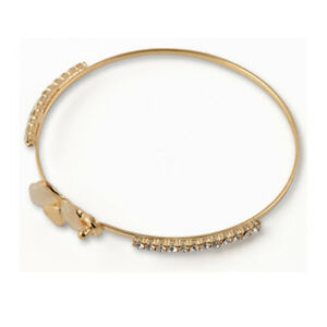 Trendy-Women-Jewelry-Flower-Crystal-Gold-Plated-Charm-Cuff-Bangle-Bracelet-Gift