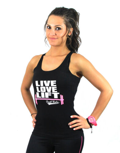 Live Love Lift Running Ladies Women Racerback Gym Yoga Workout Vest Tank Top