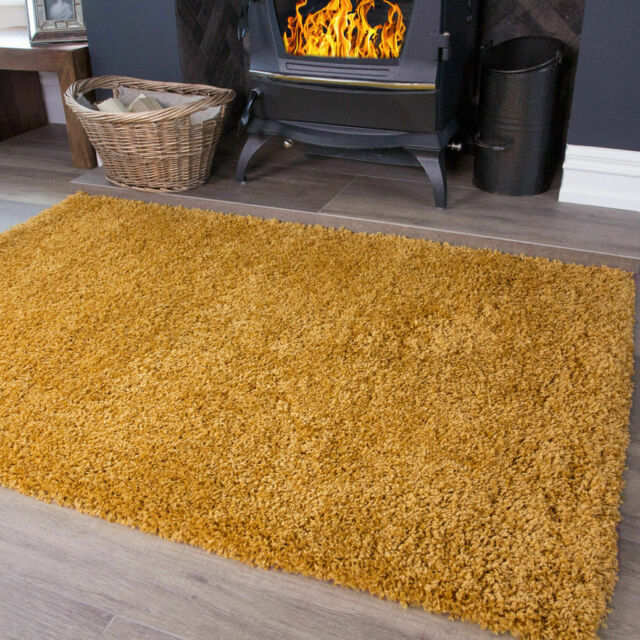 Soft Fluffy Warm Terracotta Orange Shaggy Rugs New Thick Non Shed Cosy Area Mats