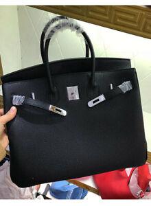 Designer 25//30//35CM Genuine Leather Handbag BK Style women purse Epsom