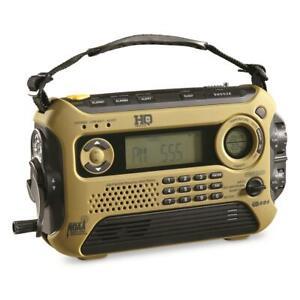 Used HQ ISSUE Digital Multi-Band Solar Powered Weather Radio HQ600