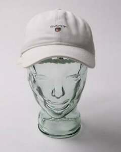 6d75fbaf Gant Twill Baseball Cap in White - curved peak, one size adjustable ...