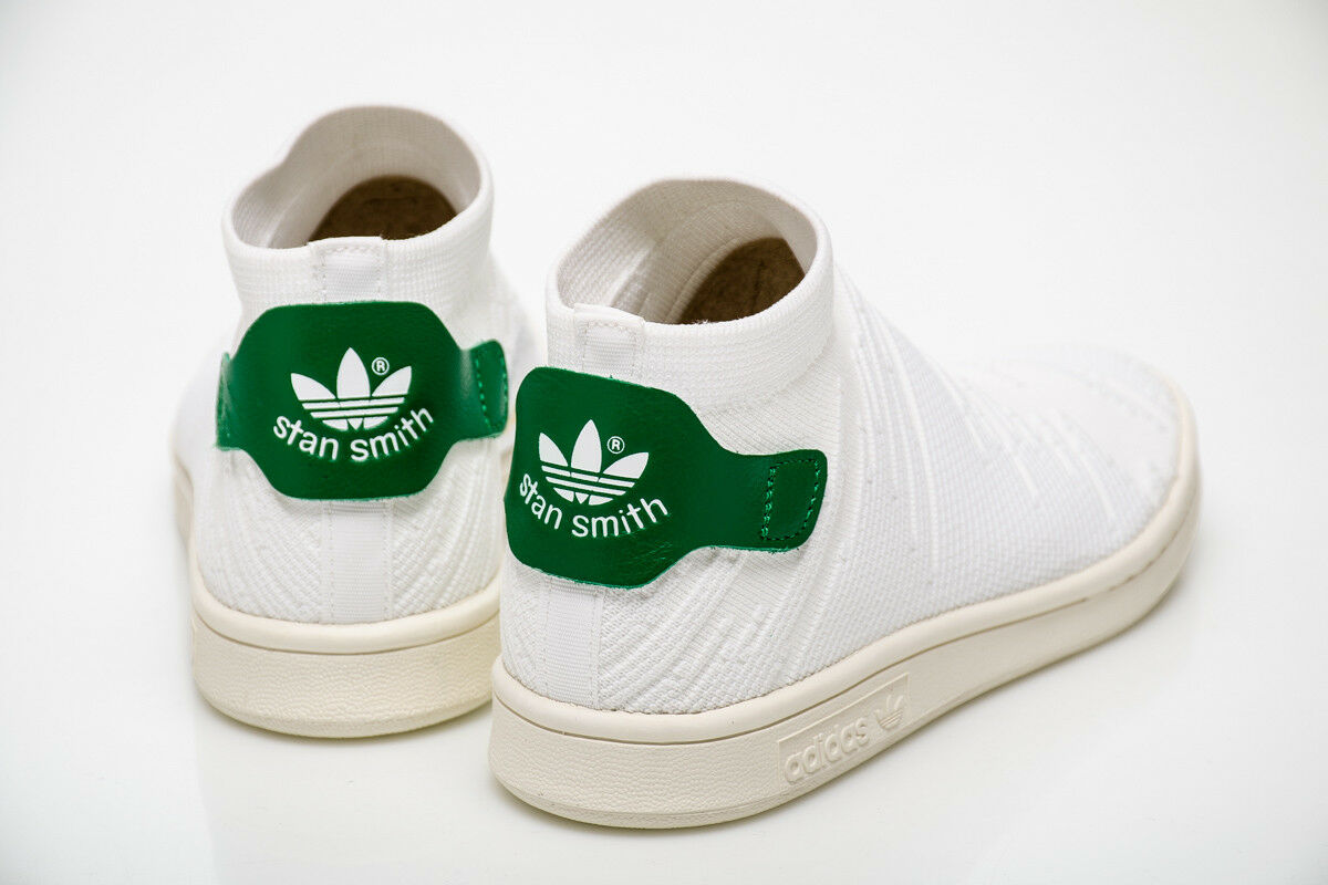 ADIDAS STAN SMITH SHOES SOCK PK WOMEN PRIMEKNIT STYLE BY9252  WHITE GREEN
