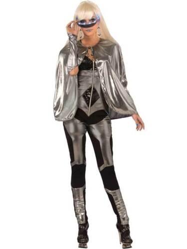 Shiny silver fantasy cape cloak robe nouvelle robe fantaisie adulte super-héros halloween