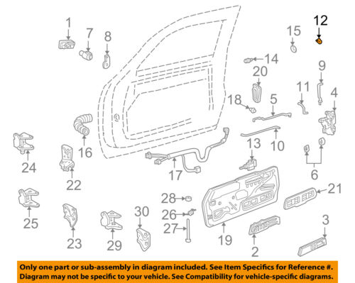 GM OEM Front Door-Rod Clip 12338100