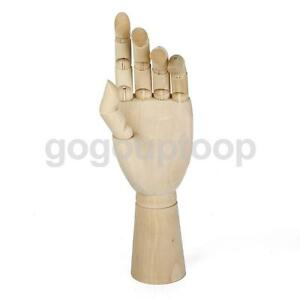 artist wooden hand model manikin movable fingers sketching drawing