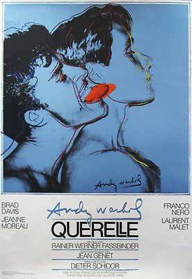 Querelle Blue by Andy Warhol Original 1982 Film Poster Art Print - 1st Printing