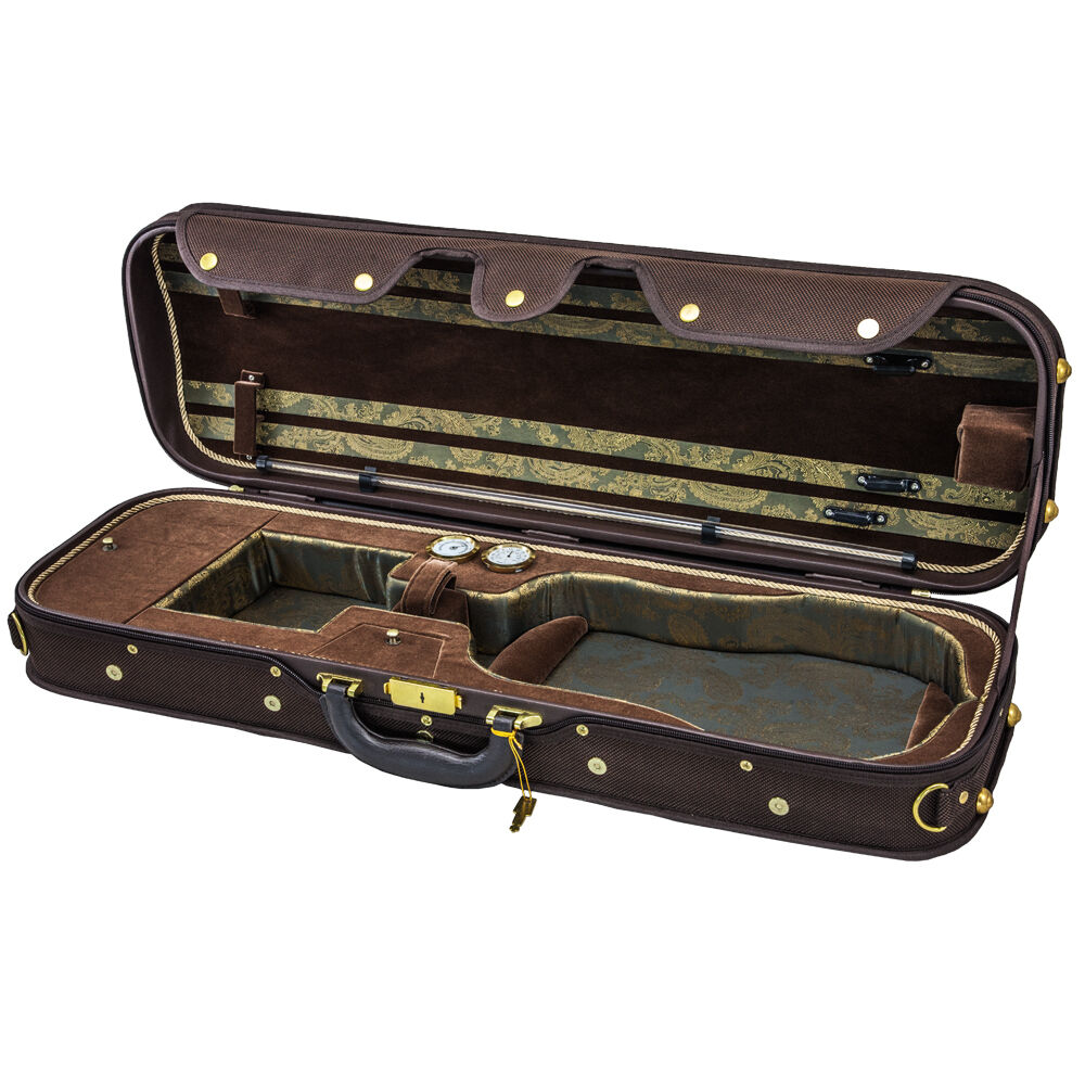 NEW Top Grade Deluxe Quality Solid Wood 4/4 Größe Acoustic Violin Fiddle Case W6
